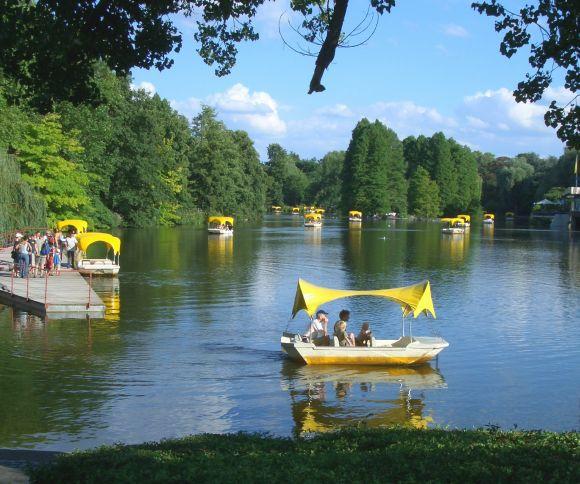 Luisenpark Mannheim zöld parkja