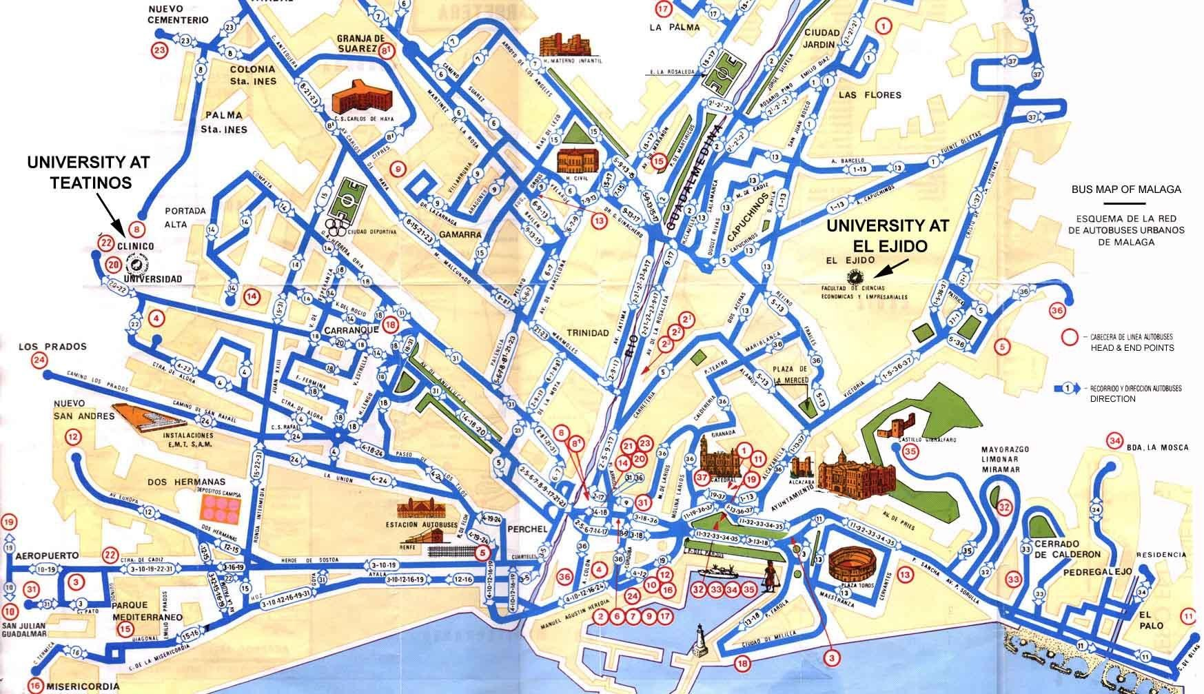 malaga térkép központ, belváros utca térkép   Szállás és látnivaló, nyaralás és  malaga térkép