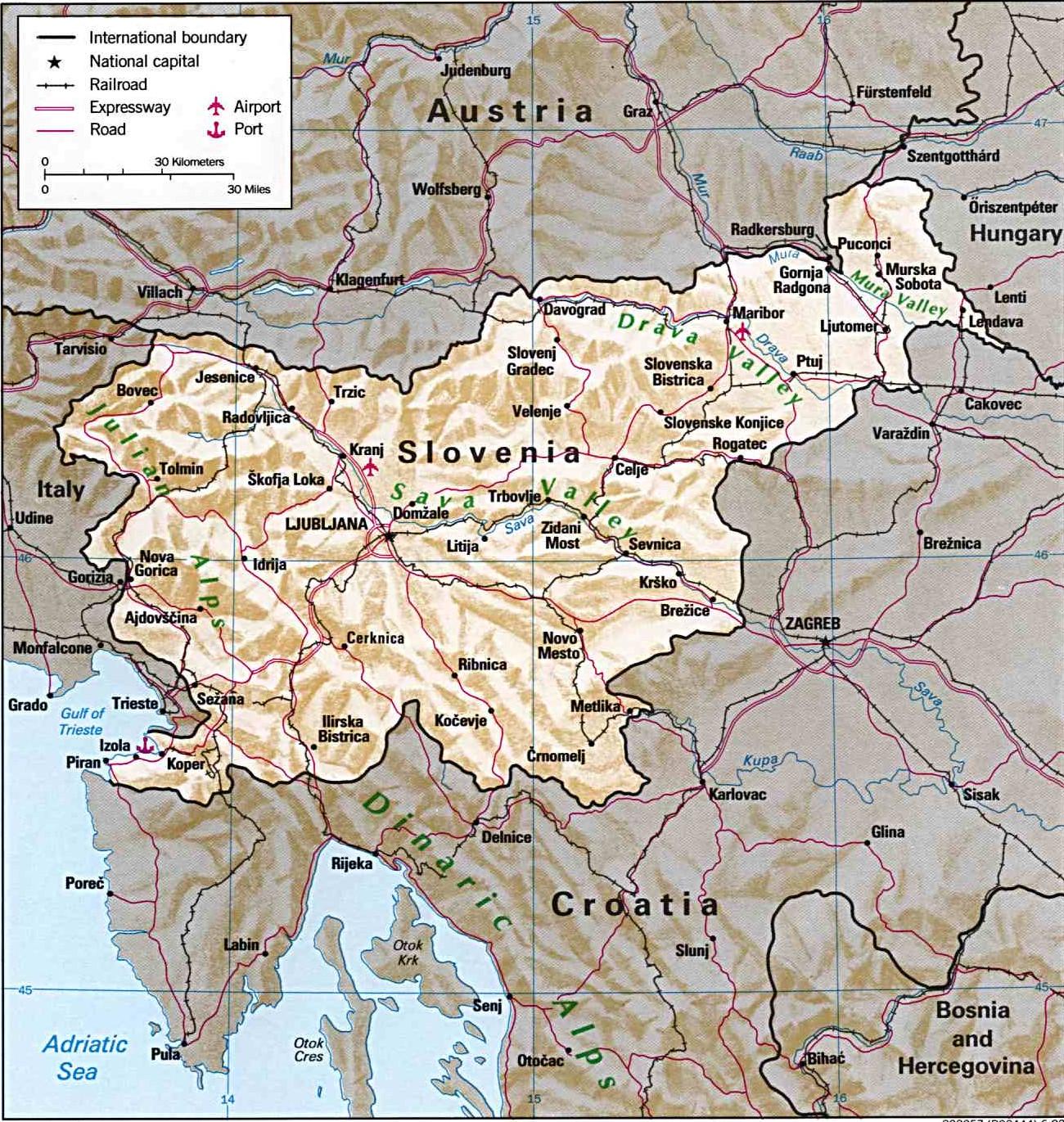 szlovénia látnivalók térkép Szlovénia térkép   Szállás és látnivaló, nyaralás és utazás  szlovénia látnivalók térkép