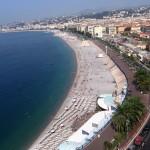 óriási strand Nizzában