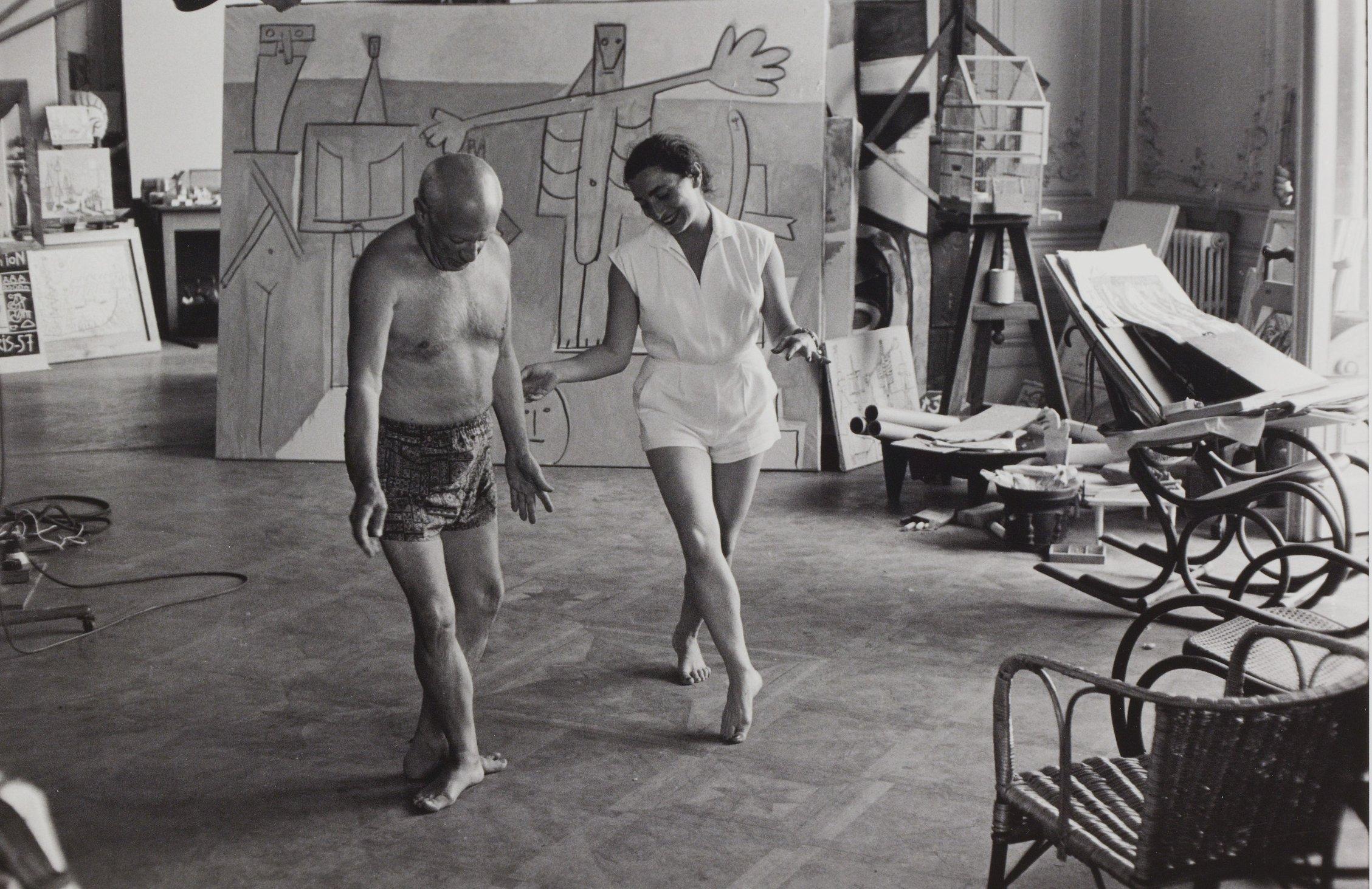 Picasso és második felesége Jacqueline